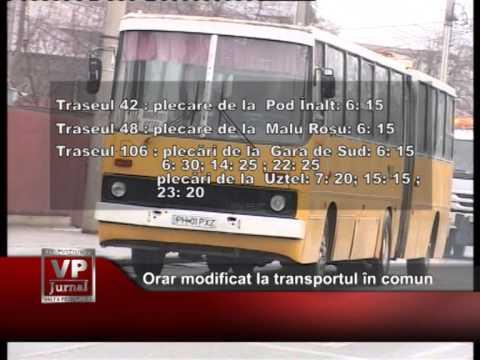 Orar modificat la transportul în comun