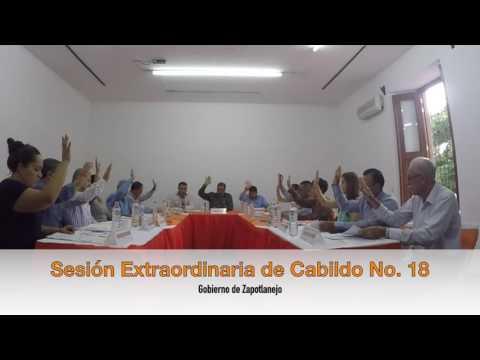 Sesión Extraordinaria No. 18 de Ayuntamiento 25 de julio de 2016