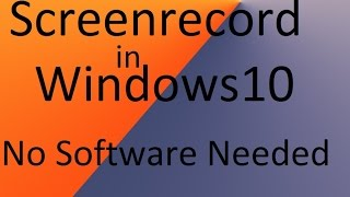 """Hey guys today i am going to show on how to record the sceen of windows 10 without using any 3rd party softwares.In this video i am going to use a inbuilt screen recording software called """"Game Bar"""".Here i mean no software needed means no 3rd party software needed.Music Used- OCD- Moosh & Twist - Every Single DayDon't forget to like,share and subscribe if you enjoy watching this . Take care."""