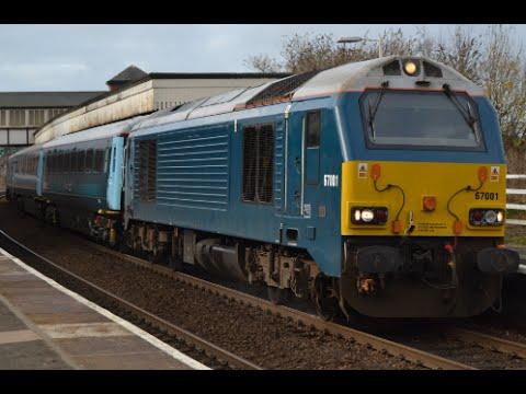 Arriva Trains Wales 67001 & 82308 departing Colwyn Bay 15...