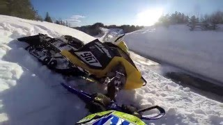 7. Ski-doo 600rs in deep snow