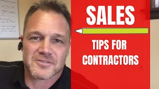 Sales Tips for Contractors