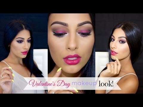 Valentine's Day   All Pink Everything Makeup Tutorial!