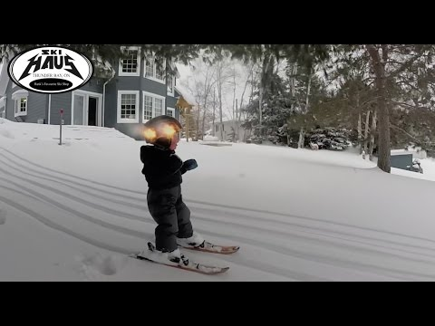 2YearOld Canadian Boy is a Snow Skiing Pro
