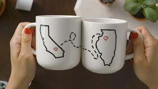 These Adorable DIY Mugs Are Perfect For an Engagement Gift by POPSUGAR Girls' Guide