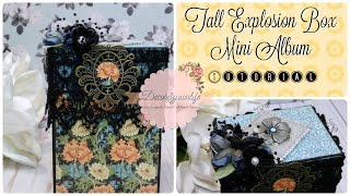 Mini Album Explosion Box Tutorial. Tall Explosion Box Tutorial. My Design Team project for KS4U. The following items were used in the decorating of this Mini ...