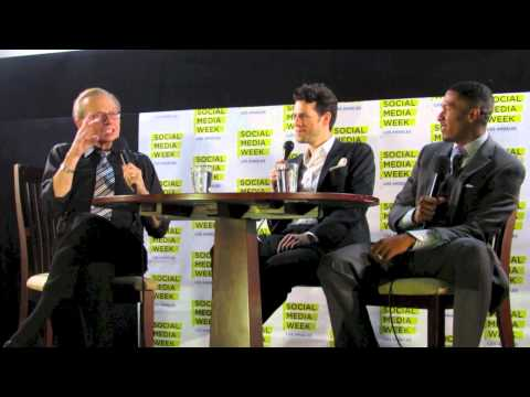 Larry King interviews Nick Cannon at SMWLA 2012