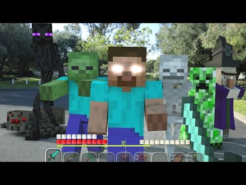 Minecraft In Real Life | Lone Survivor (видео)