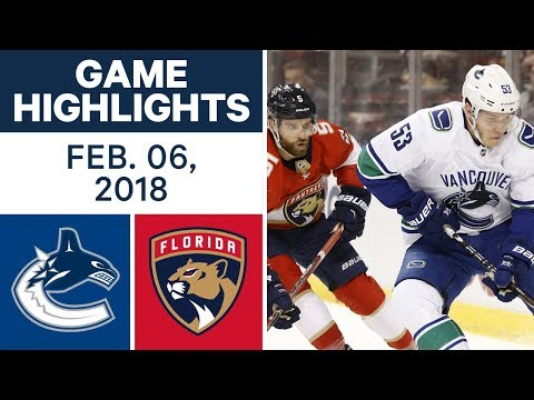 Video: NHL Game Highlights | Canucks vs. Panthers — Feb. 6, 2018