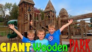 HUGE WOODEN FORT PLAYGROUND PARK