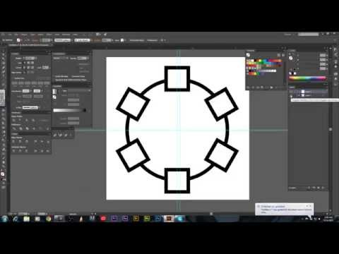 Adobe Illustrator CC Tutorial - How To Use The Rotate Tool-Quick Tip