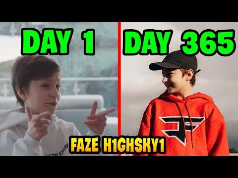 1 Year of FAZE H1GHSKY1... | Fortnite Kids Compilation