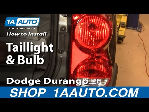 How To Install Replace Taillight and Bulb Dodge Durango 04-09 1AAuto.com