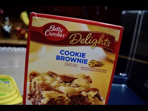 How to make Betty Crocker Cookie Brownie mix