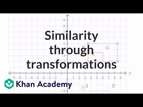 Similar Shapes Transformations Video Khan Academy
