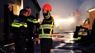 Grote brand in stal met stieren in Zwagerbosch