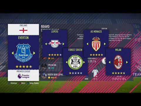 THE BEST CAREER MODE TEAMS IN FIFA 18!!!