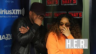 Video H.E.R. Talks About New Music, Building with Janet Jackson & Rihanna and Touring with Chris Brown MP3, 3GP, MP4, WEBM, AVI, FLV Agustus 2018
