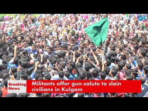 Militants offer gun-salute to slain civilians in Kulgam