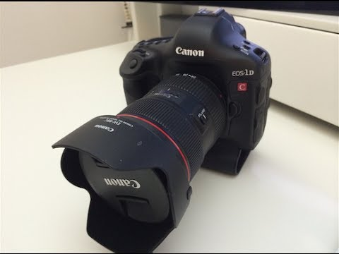 Canon EOS 1DC 4K DSLR Unboxing & First Look