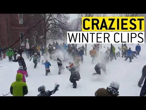Funny clips - Crazy Winter Clips  JukinVideo
