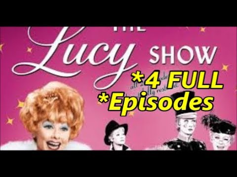 60's TV Comedy, The LUCY SHOW, 4 FULL EPISODES  Season 5 - Starring Lucille Ball