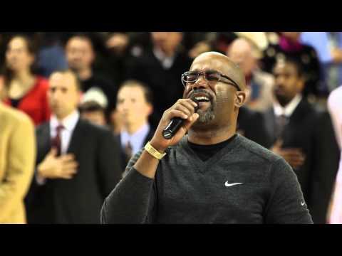 Darius Rucker sings the national anthem.....We all love him - Tom