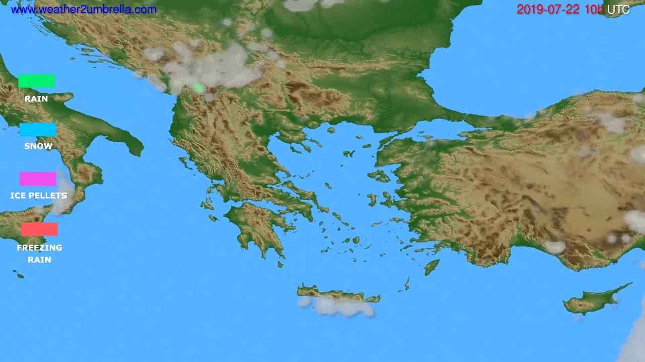 Precipitation forecast Greece // modelrun: 00h UTC 2019-07-20