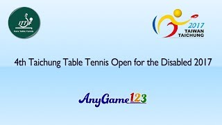 AnyGame123 4th Taichung Table Tennis Open for the Disabled 2017 Table 6