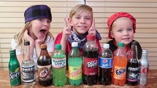 Video 😜SODA CHALLENGE!! Kids drink different soda flavors. MP3, 3GP, MP4, WEBM, AVI, FLV Juli 2018