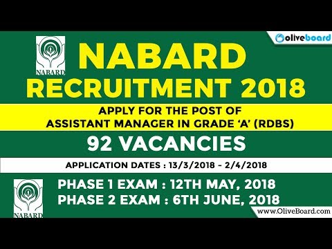 NABARD Grade A 2018 | 92 Vacancies NABARD Recruitment |  Assistant Manager | Salary & Perks
