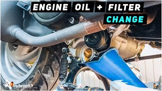 7. 2013 + Piaggio Fly 150 - Engine Oil / Oil Filter Change