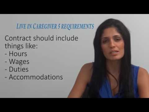 Live in Caregiver 5 Requirements Video
