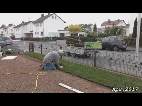 Parkplatzvergrößerung und Rollrasen verlegen / April  ...