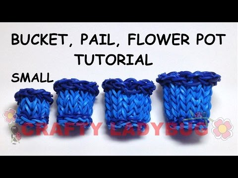 crafty - Create this SMALL Bucket, Pail or Flower Pot using the Rainbow Loom, Cra-Z-Loom (CraZLoom), Bandaloom, DIY Fun Loom, Wonder Loom and other Loom Band Kits. This tutorial will show you how to...