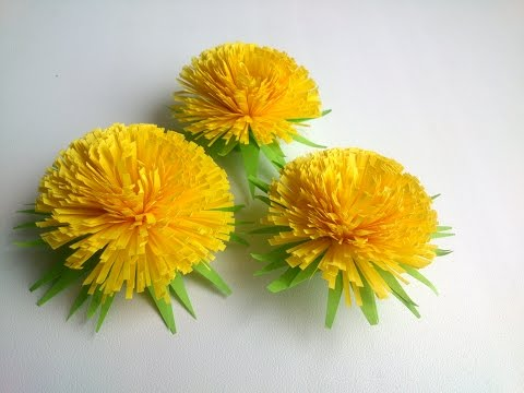 How to make  Quilling Flower Quilling Dandelion -Paper Art Quilling.