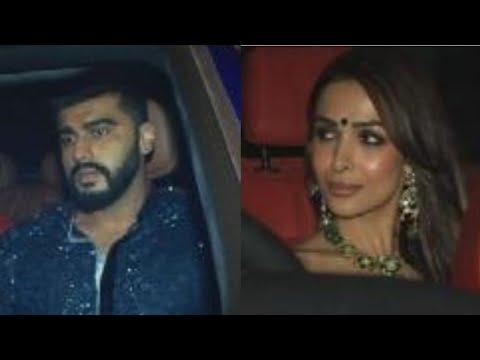 Arjun Kapoor Malaika Arora Arrive at Karan Johar Diwali Party 2018