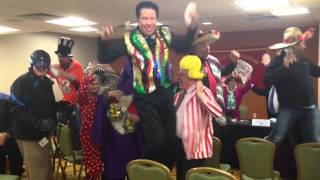 Magicians at The Society of American Magicians spring National Council Meeting perform the Harlem Shake. www.magicsam.com