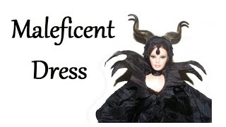 How To Make Maleficent Dress For Dolls Tutorial