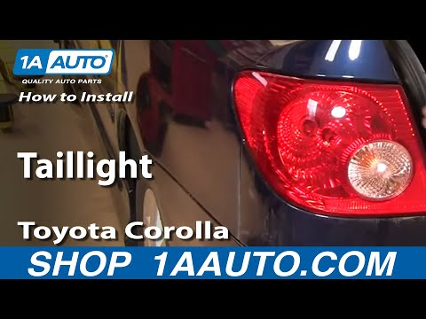 How To Install Replace Change Taillight Toyota Corolla 03-08 – 1AAuto.com