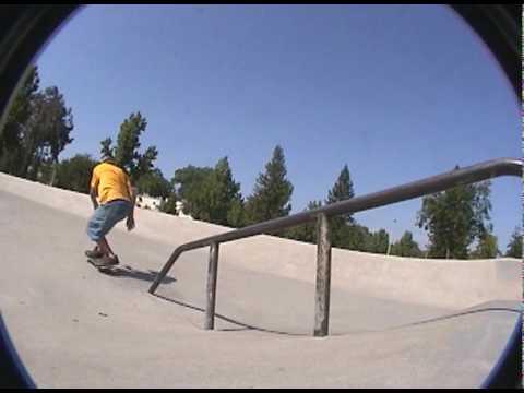Skateboarding: Nollie Front Side Blunt Slide at the Redding Skatepark