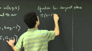Tangent Planes | MIT 18.02SC Multivariable Calculus, Fall 2010