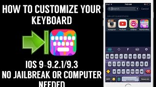 In this video, I will be showing you how to Customize your iOS keyboard any way you like it:) Jailbreaking Tweaks But NOT JAILBREAKING PLAYLIST https://www.y...