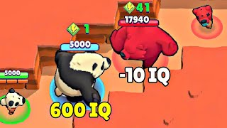 600 IQ Panda vs -10 IQ Nita I Brawl Stars Wins & Fails #51