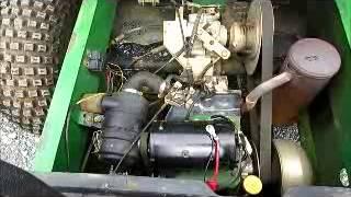 9. Sold! John Deere Gator Turf Utility Cart Dump Bed Kawasaki 11HP bidadoo.com