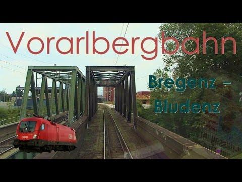 Führerstandsmitfahrt Vorarlbergbahn Bregenz - Bludenz [HD] - Cab Ride - ÖBB 1116