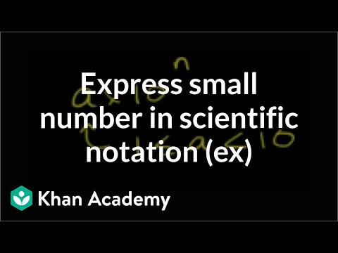 Scientific Notation Example 00000000003457 Video Khan Academy