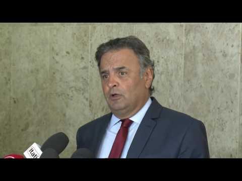 Coletiva senador Aécio Neves – Melhorias no sistema prisional brasileiro