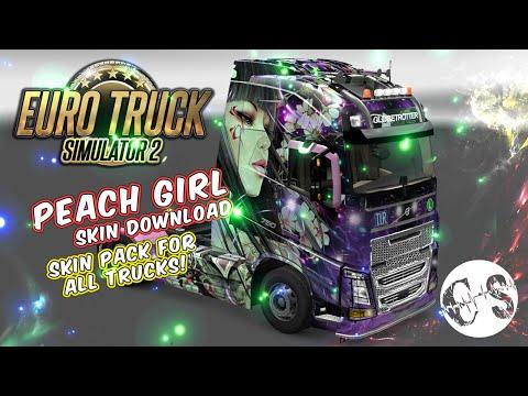 Peach Girl Skin Pack for All Trucks