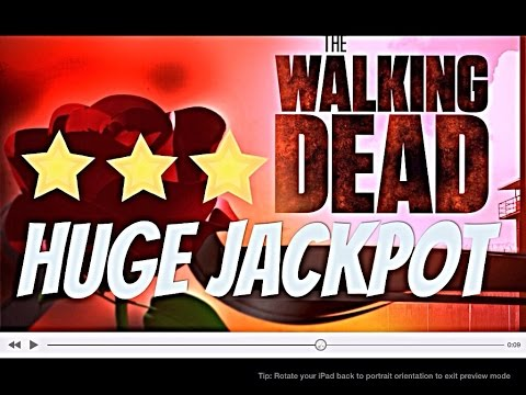 *** HUGE JACKPOT*** The WALKING DEAD slot machine MAX BET 75 Spins Bonus WIN!